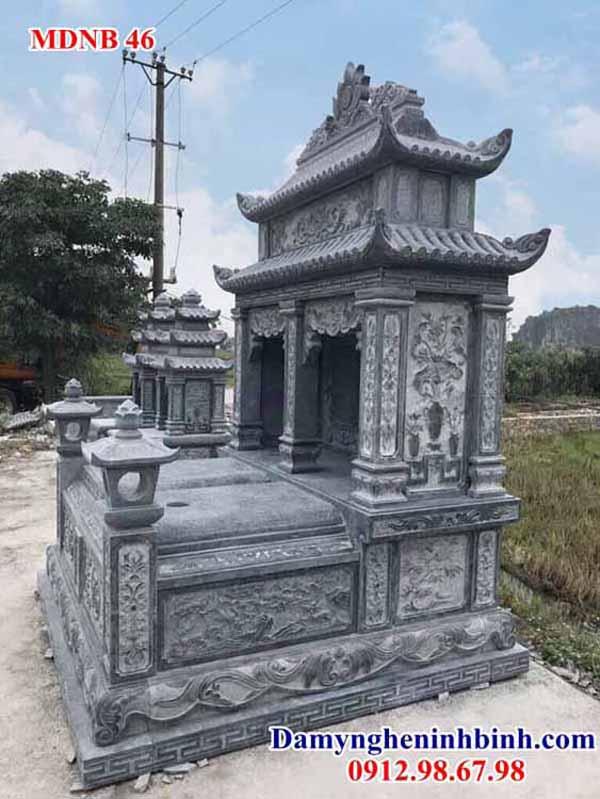 lăng mộ đôi bằng đá