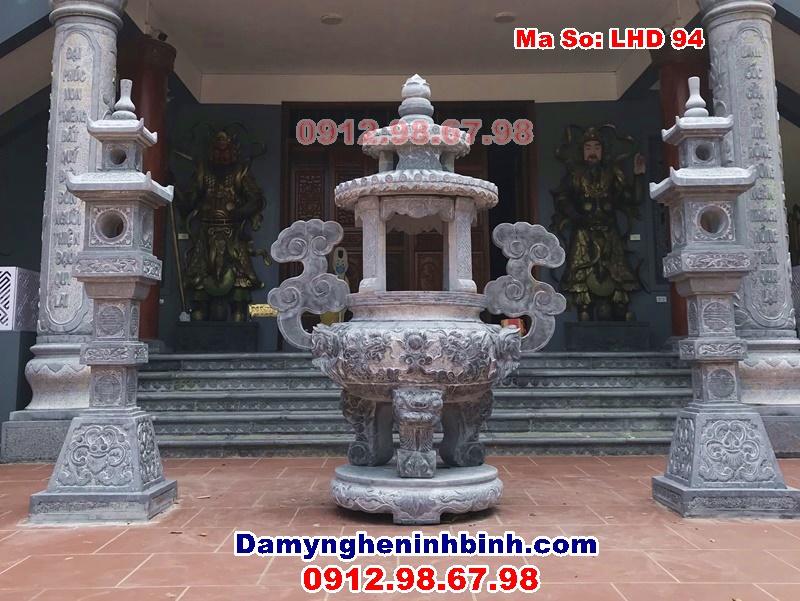 lư đỉnh đèn đá chùa linh cốc bắc ninh