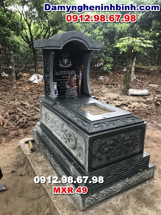mẫu giá lăng mộ đá xanh rêu thanh hóa mxr 49