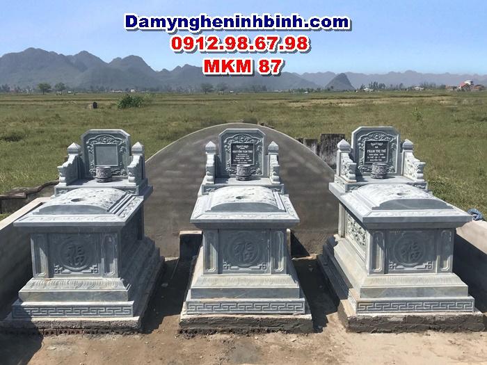 mẫu lăng mộ đá xanh rêu nguyên khối ninh bình đẹp thanh hóa mkm 87