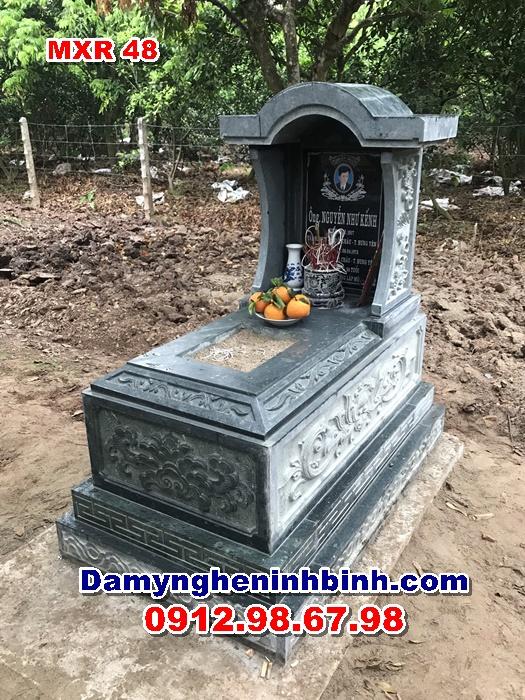 mẫu lăng mộ đá xanh rêu thanh hóa mxr 48
