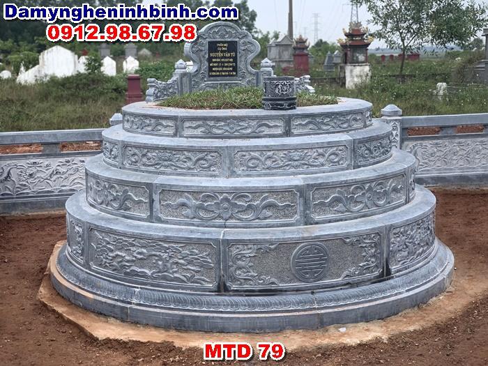 Mẫu mộ tròn đá đẹp MTD 79