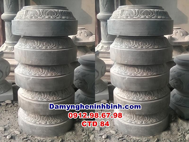 Mẫu Chân tảng đá đế tròn kê cột nhà đẹp