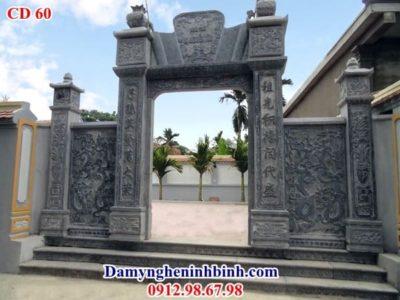 mẫu cổng đình đền đá đẹp
