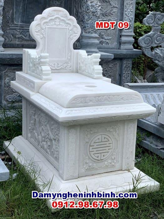 mẫu mộ bành đá trắng thanh hóa