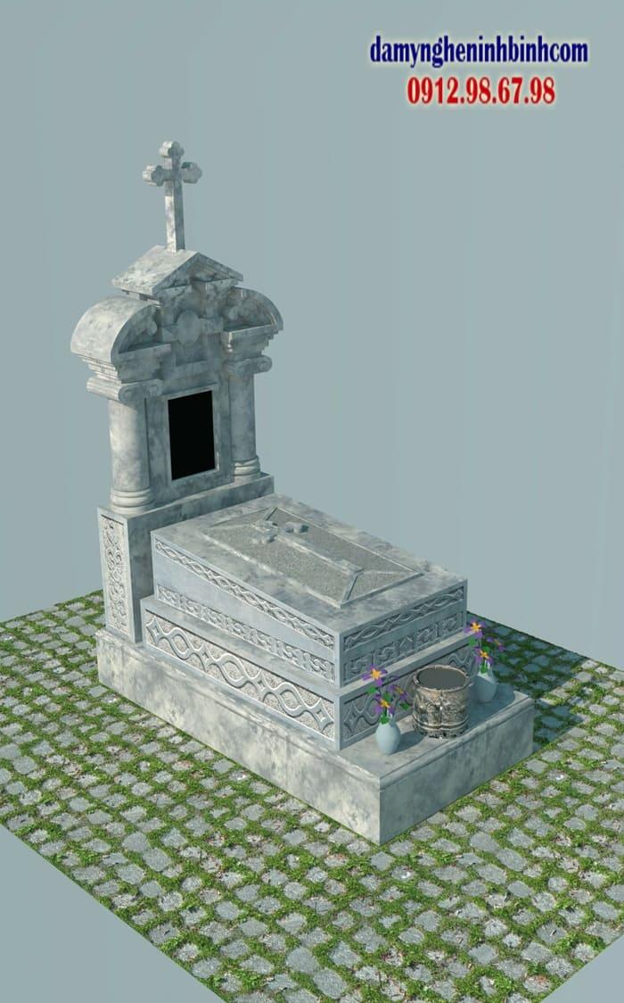 mẫu mộ đá công giáo | Đá Mỹ Nghệ Ninh Bình