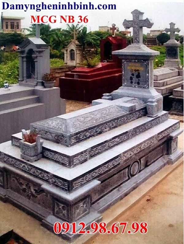 mẫu mộ công giáo đá