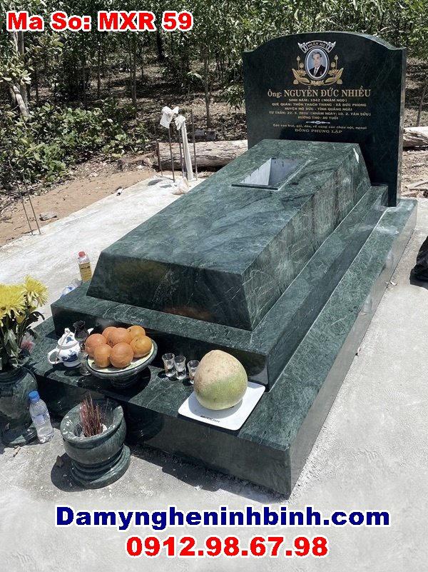mẫu mộ đá nguyên khối đẹp nhất