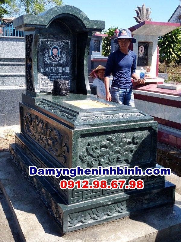 mẫu mộ đá xanh rêu lâm Đồng và Hưng Yên