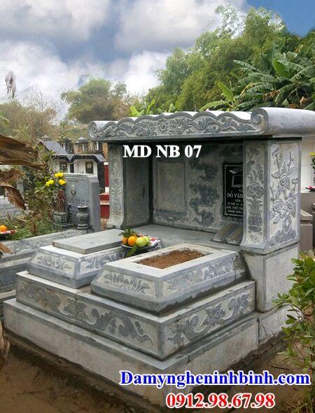 mẫu mộ đôi ốp đá granite