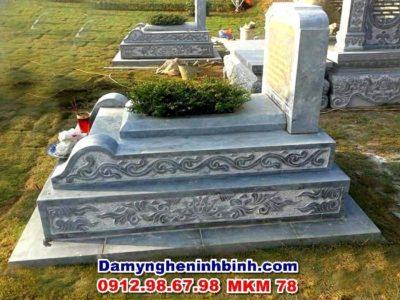 mẫu mộ tam cấp đá xanh thanh hóa