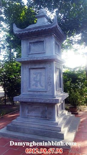 mẫu mộ tháp đá đẹp Đá Mỹ Nghệ Ninh Bình