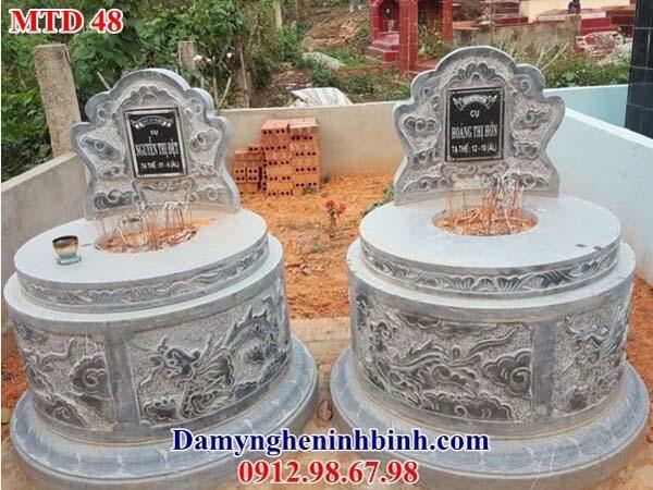 mẫu mộ tròn đá đôi