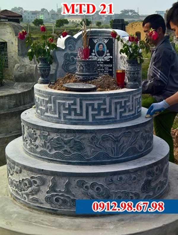 mẫu mộ tròn xây gạch