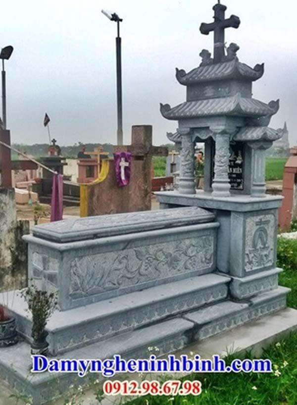 mộ công giáo đá xanh