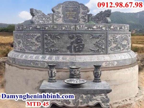 mộ hình tròn bằng đá