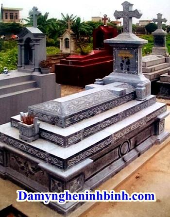 Mộ tam cấp công giáo đá