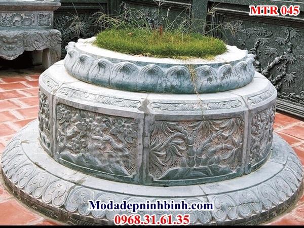 Mộ tròn đá đặt theo kích thước phong thủy đẹp