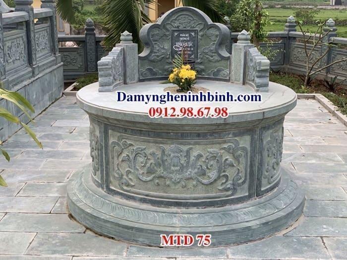 Mộ tròn đá đẹp MTD 75
