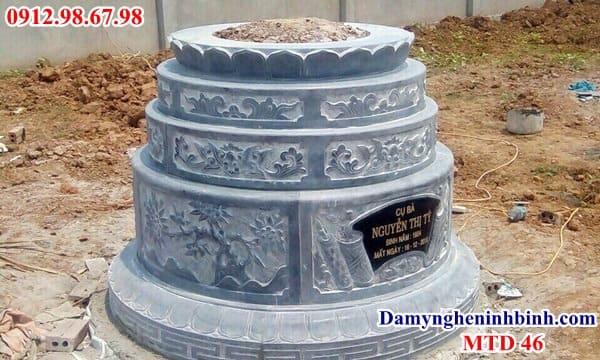 mộ tròn đá màu xanh thanh hóa