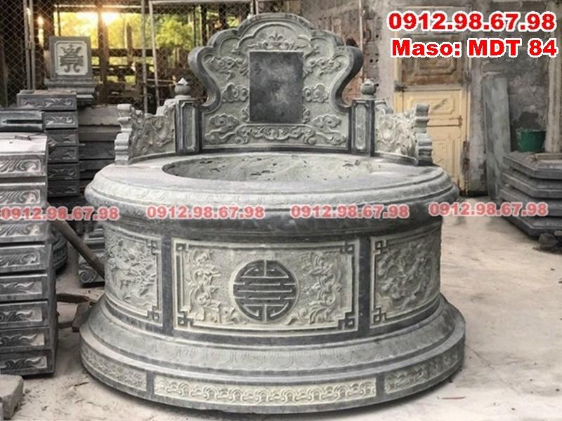 mộ tròn đá xanh rêu đẹp