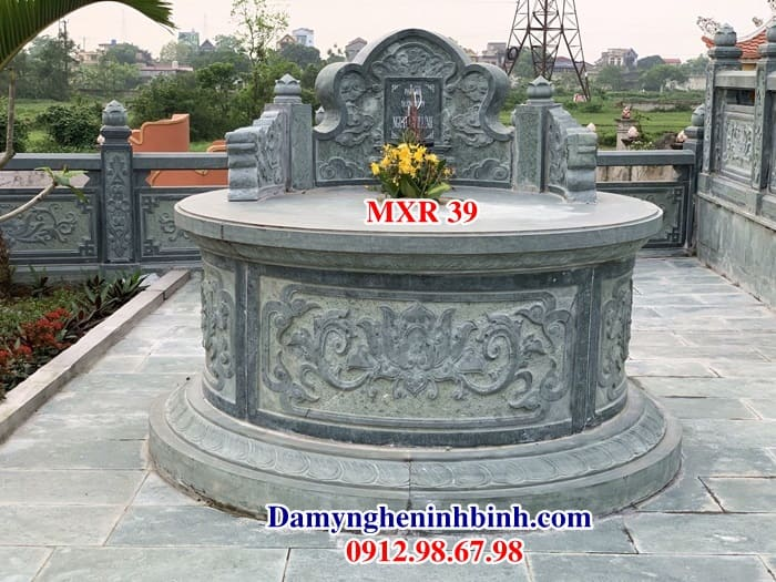 Mộ tròn đá xanh rêu MXR 39