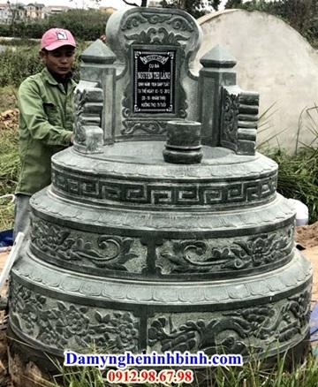 Mộ tròn chất liệu đá xanh rêu