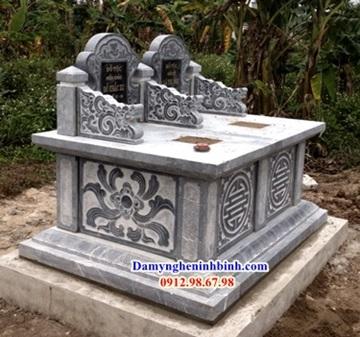 thiết kế mộ đôi đá tam sơn